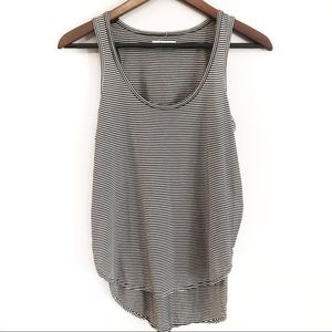 MADEWELL Black & White Striped Side Slit Tank - XS